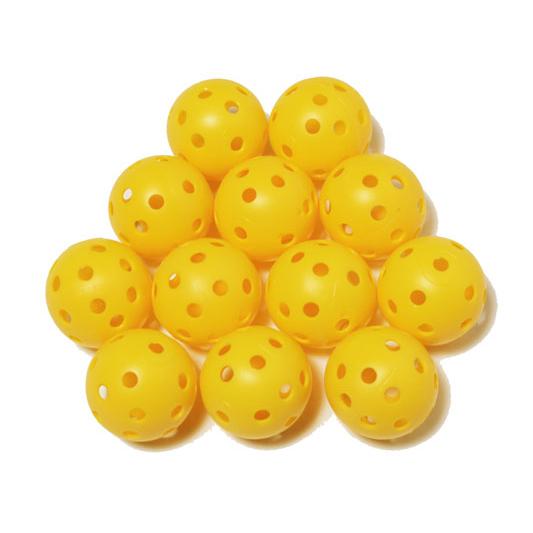 Elrey Yellow hollow practice balls