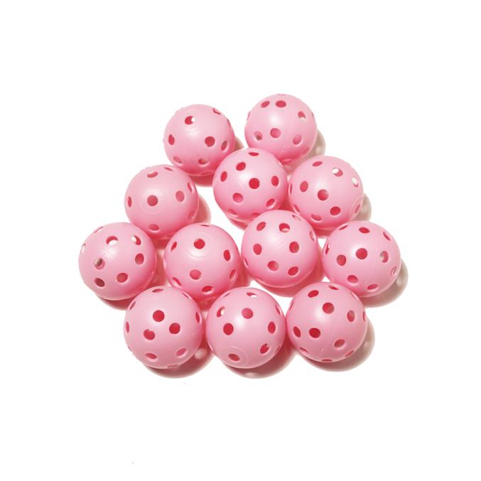 Elrey Pink hollow practice balls