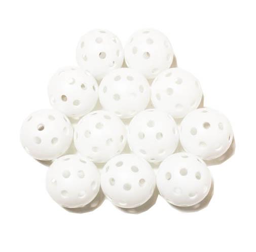 Elrey White hollow practice balls
